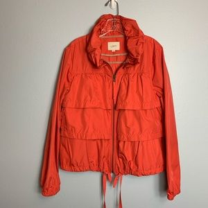 AWESOME CORAL LOFT TIERED WINDBREAKER SIZE LARGE